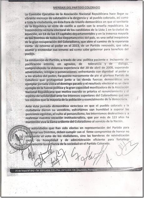 MENSAJE DEL PARTIDO COLORADO.1