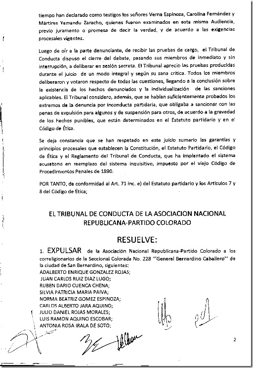 Tribunal de Conducta-Resolucion 22-2010 002