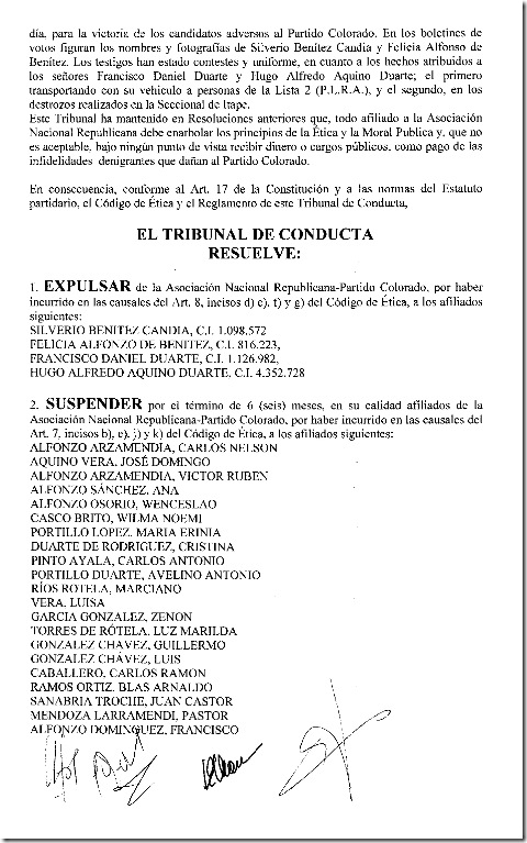 Tribunal de Conducta-Resolucion 25-2010 002