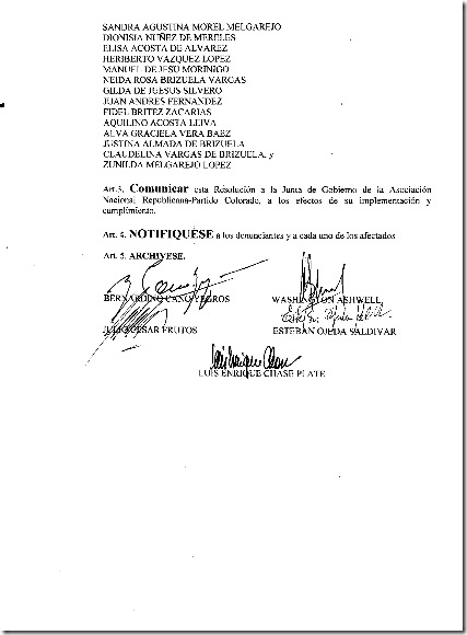 Tribunal de Conducta-Resolucion No.21-2010 003